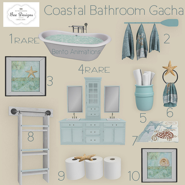 bee designs coastal bathroom gacha ltd - Coastal Bathroom