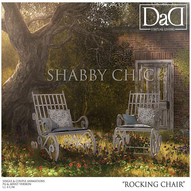 DAD VIRTUAL LIVING   SHABBY CHIC ROCKING CHAIR