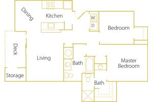 2 bed/ 2 bath - Rent $1275/mo1029 sq. feet