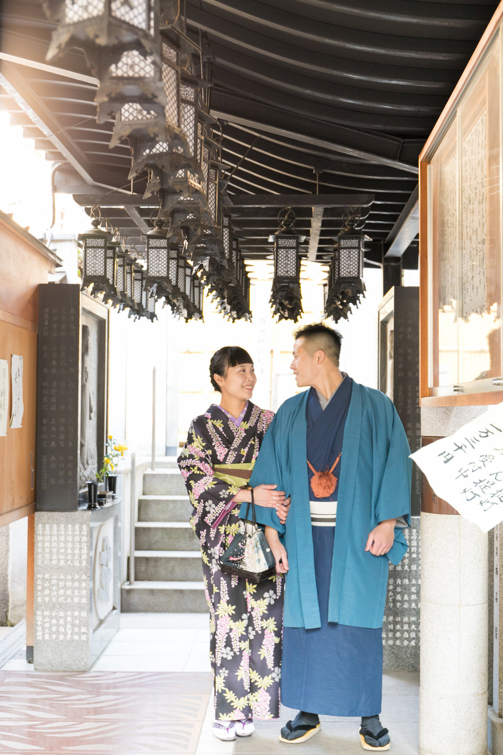 Photography tour in Osaka with kimono