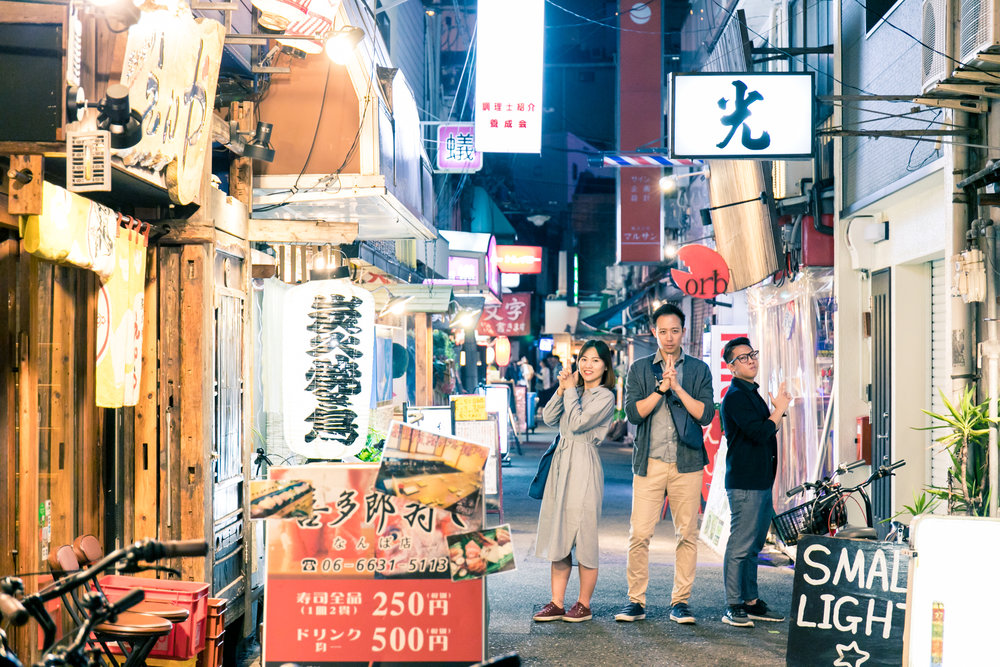 Night photoshoot tour with Photoguider in Namba Osaka, Japan