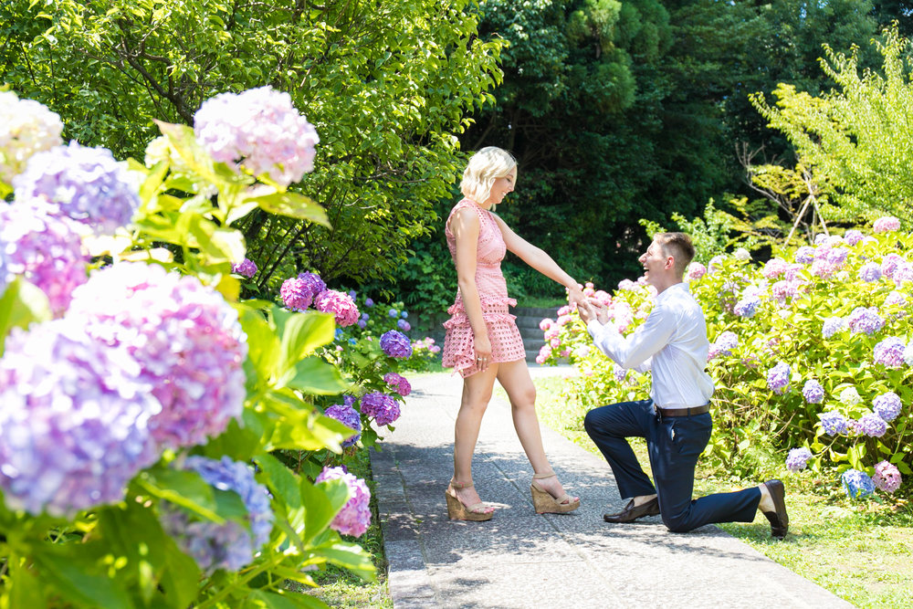 Surprised proposal photoshoot tour in Kyoto