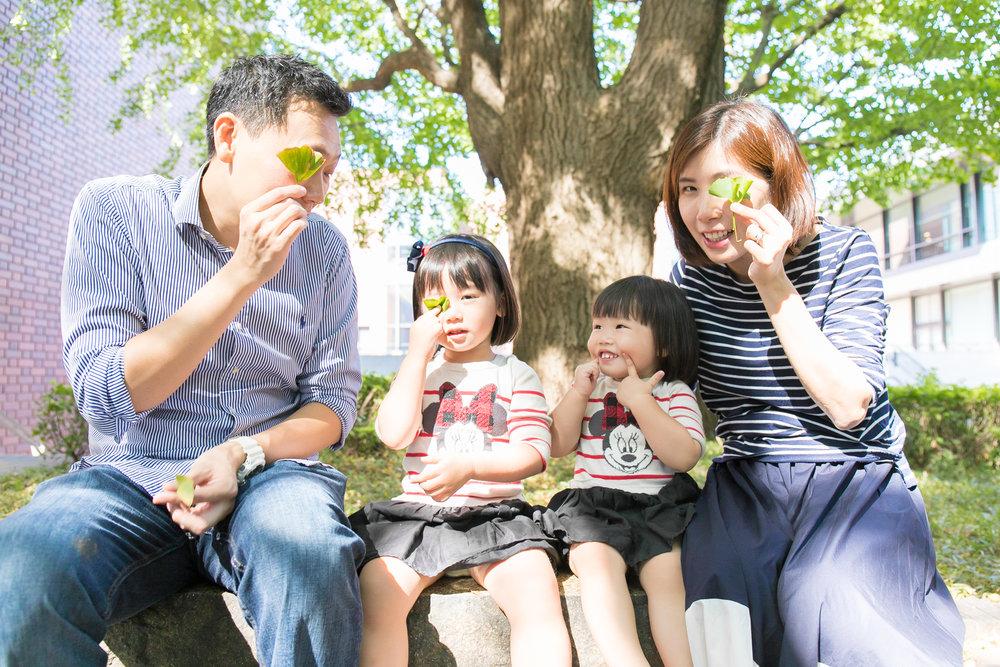 Family Photoshoot tour in Tokyo Ueno park