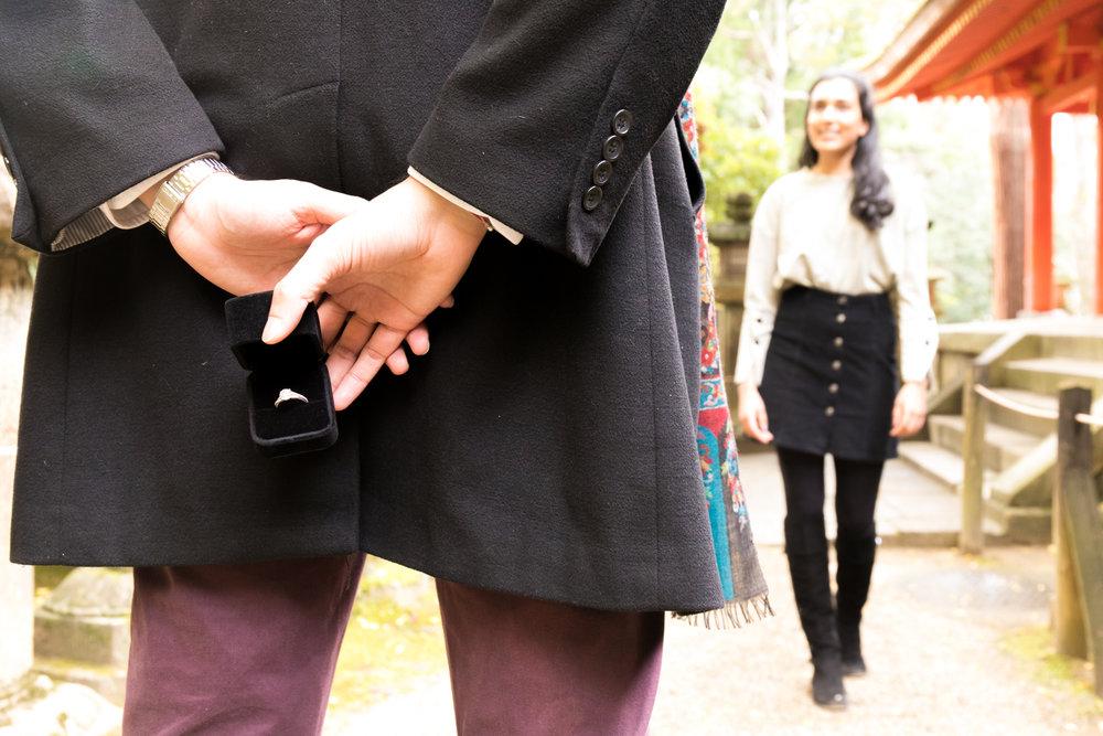 Surprise propose photoshoot in Nara, Japan