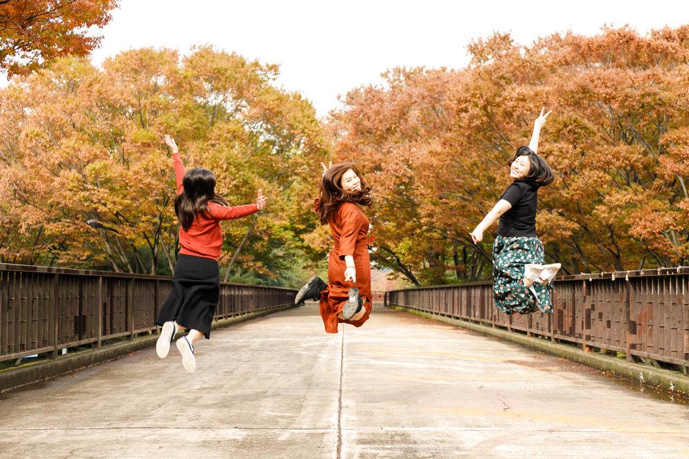 Photoshoot tour at Harajuku Yoyogi park in autumn
