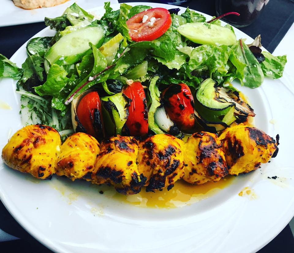 Chicken Shish Kabob w/Salad