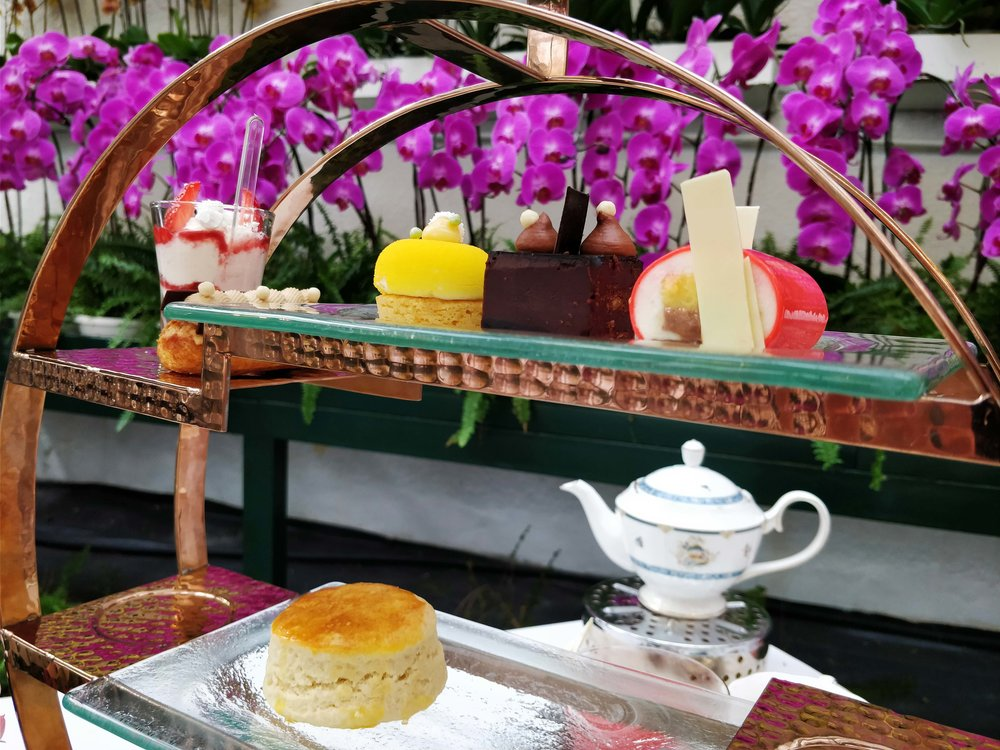High tea at the Orchid Conservatory