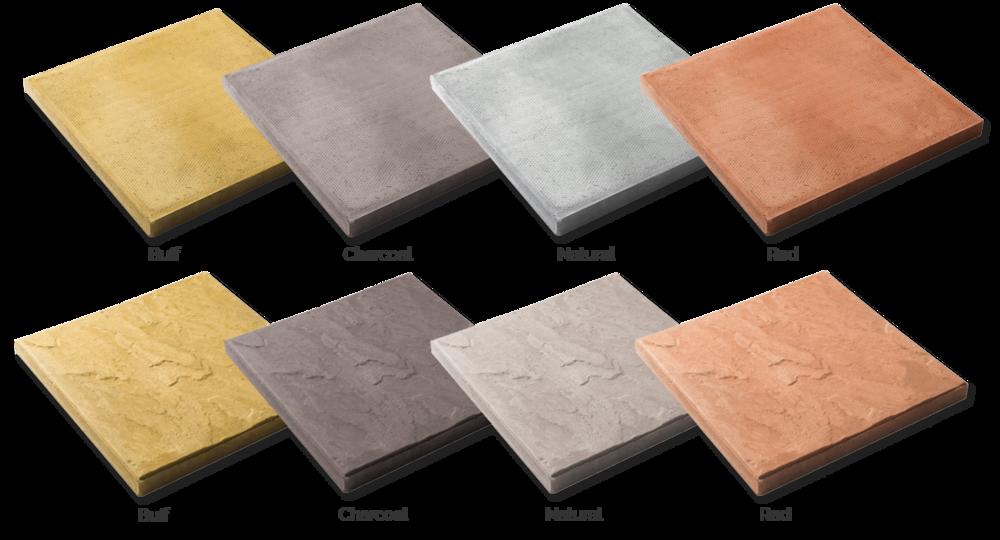 Paving Colour & Size Options -