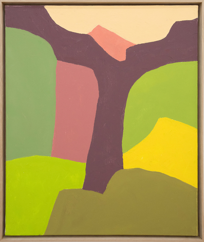 ETEL ADNAN ,  Untitled , 2018, oil on canvas, 58 × 49 cm. Courtesy the artist and Sfeir-Semler Gallery, Hamburg/Beirut.