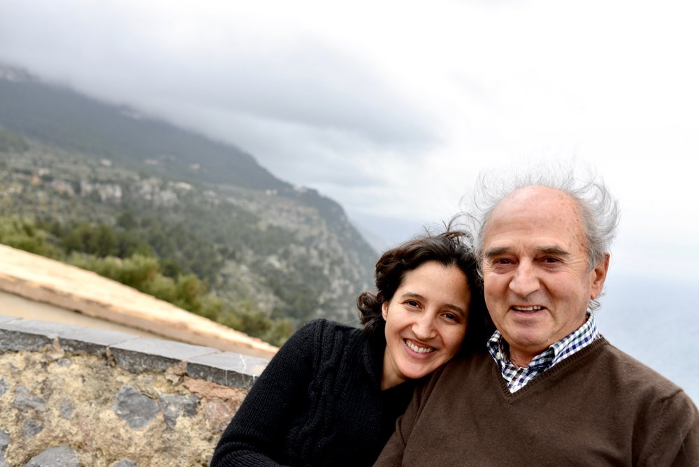 Father-Daughter winemaking team.  Raimundo and Isabel Alabern.