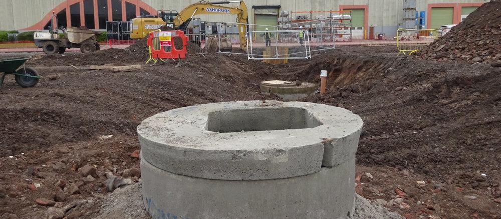 United Utilities Manhole Diversion Works, Speke Hall Road, Liverpool.jpg