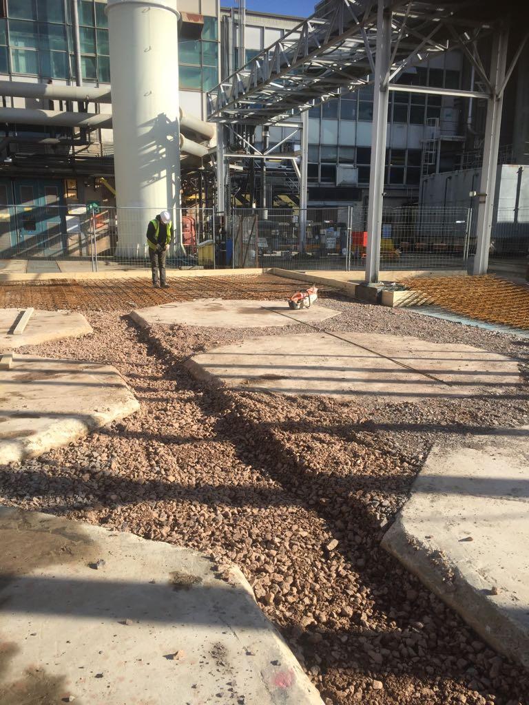 Stoning Up Around Existing Pads.JPG