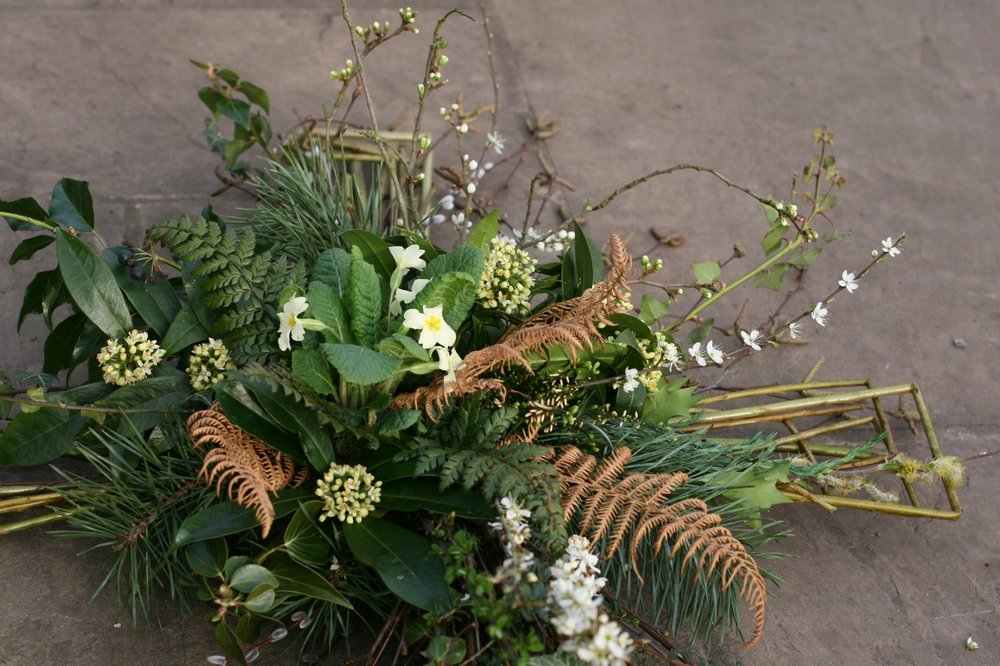 Natural funeral flowers in Cheshire, Liverpool and Manchester
