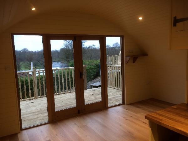 oak frame glamping pod