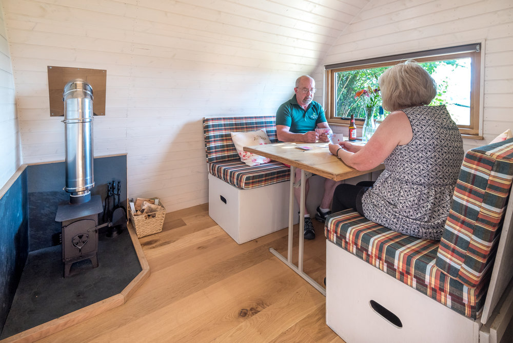 luxury glamping cabins