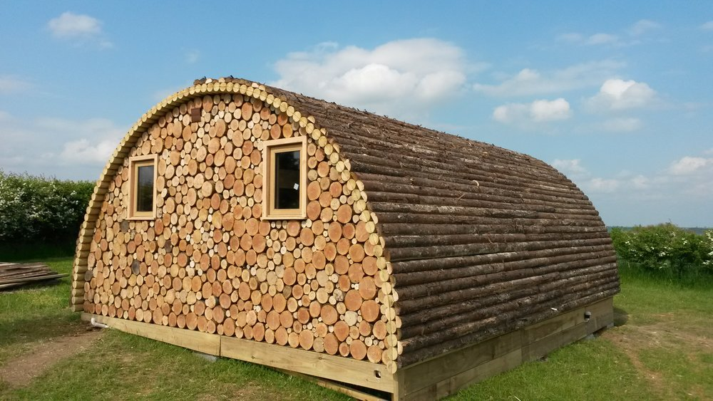 uk made log cabin for glamping