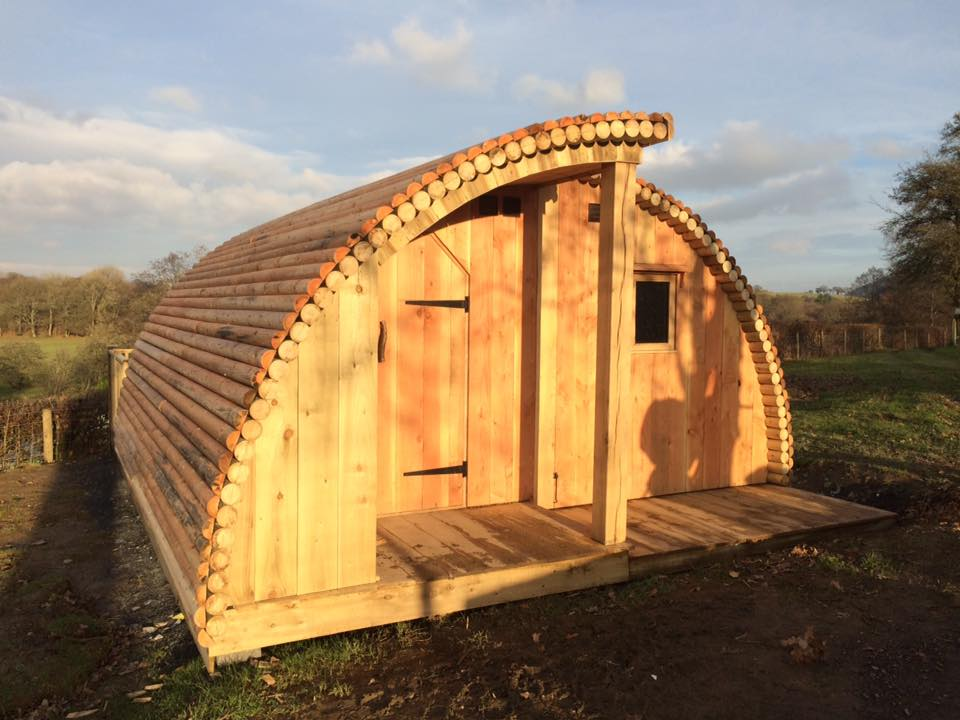 log cabin glamping pod uk