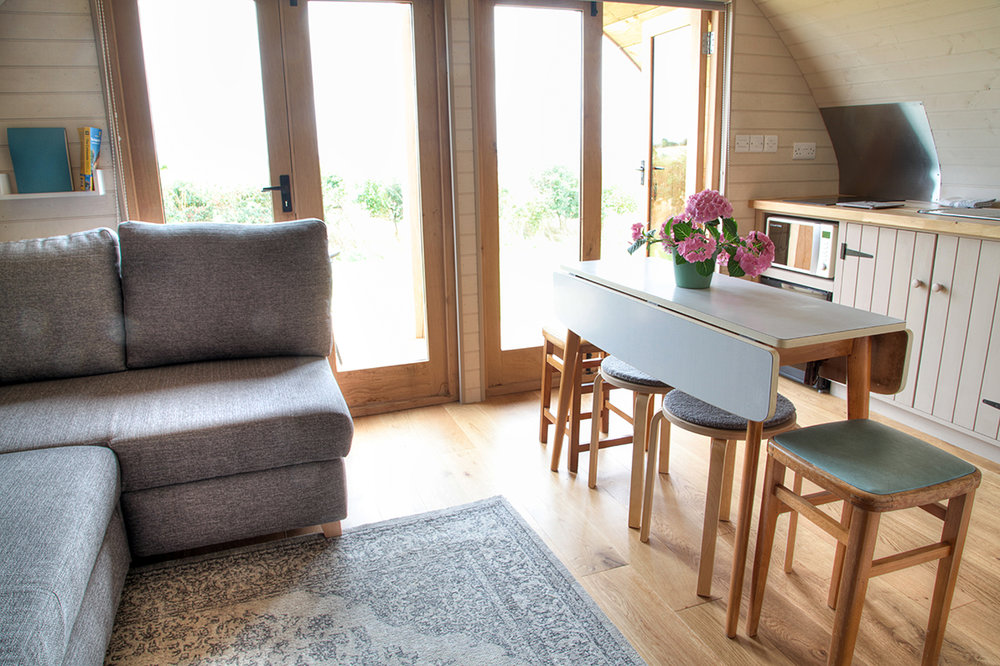 luxury glamping pod uk