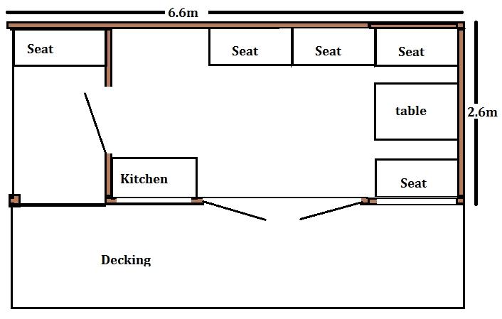 glamping pod floor plan