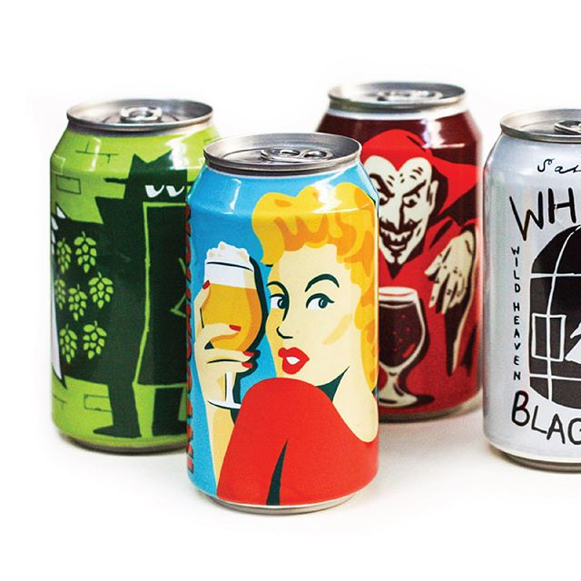 We heard it's National Beer Can Appreciation Day. Here's a few we've made for @beerwildheaven 🍻
