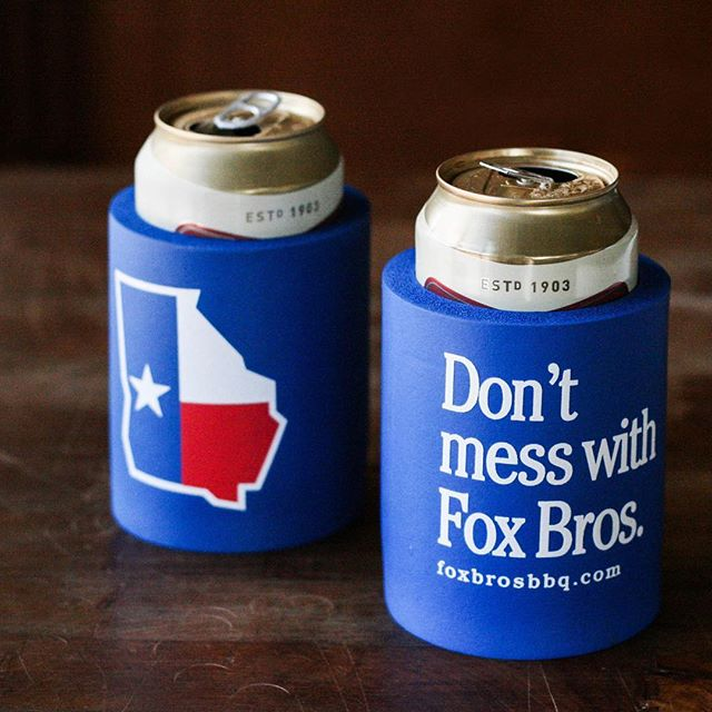 not-to-be-messed-with chunky koozies for @foxbrosbarbq