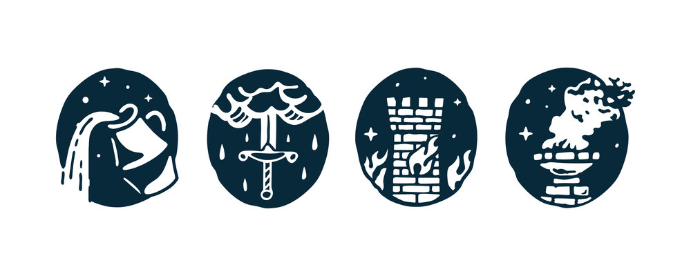 Wild Heaven icons and branding