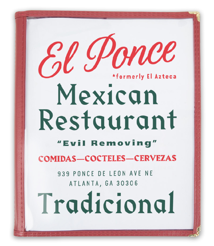 El Ponce Menu Design