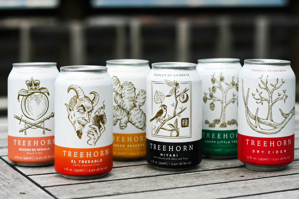 Treehorn Cider Can Design by Gentleman