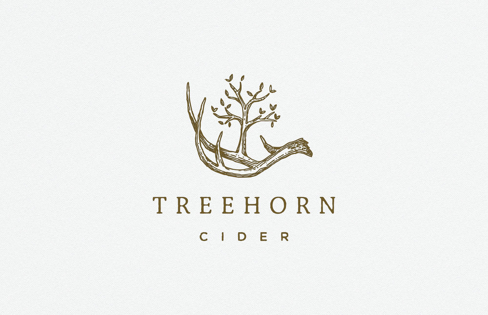 Treehorn Cider logo and branding by Gentleman