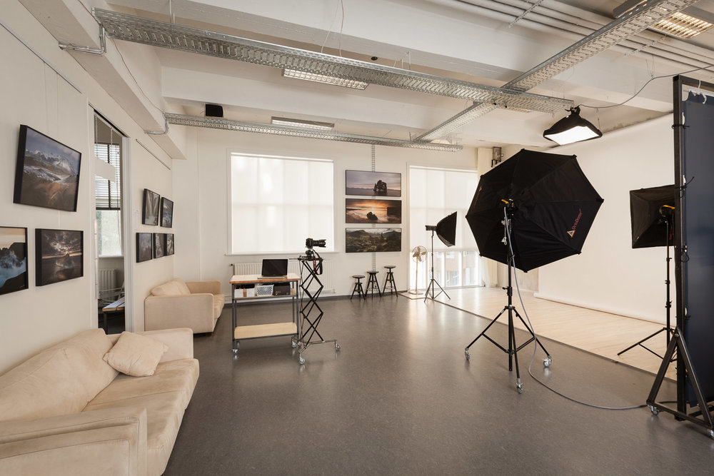 Professional photo studio - and a gallery for fine art landscape photographs