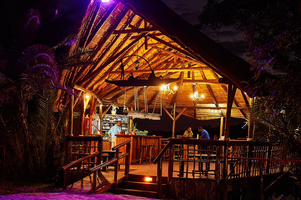 Croc Rock Bar @ night.