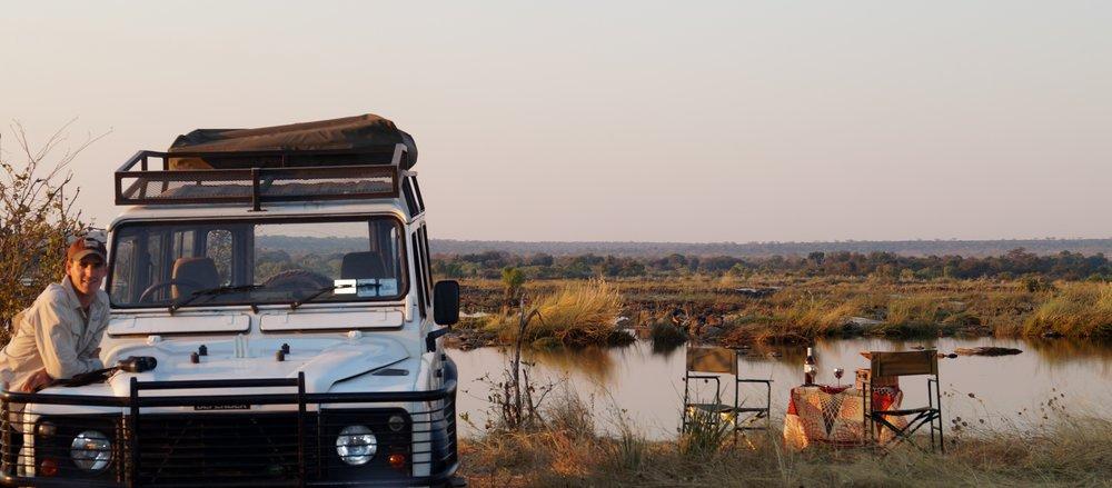 Landrover and the Zambezi River