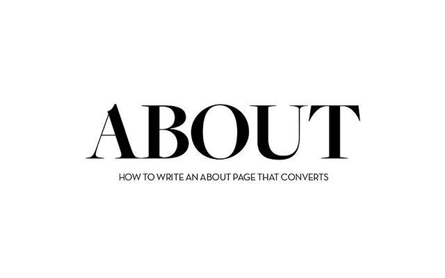 On the blog today, we go in depth about the elements of your ABOUT page that will lead to conversion.  You'd be surprised the minor details that make a huge difference in someone just reading about you that translates into them doing business with you.