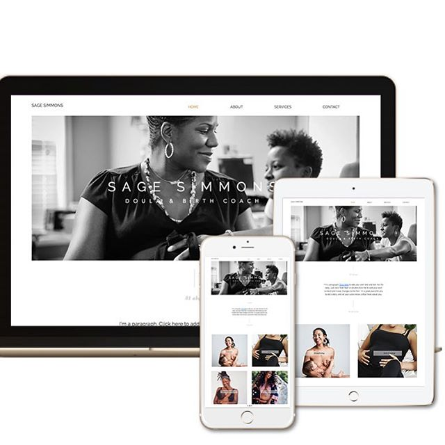 There's so much in store for our studio... if you haven't seen we are soft launching website templates.  The custom design  experience might not be for everyone but you'd still like a template that is designed for your niche.  We will be soft releasing templates over the next few weeks. Starting in Mid April you'll be able to shop a limited amount of custom bespoke templates.  Sage Doula is one of of our custom templates that is perfect for doulas, midwives and service providers. It has all of the site features that help direct your customers into booking and buying.  Interested in getting on the list for our website template launch. Visit our site. #linkinbio
