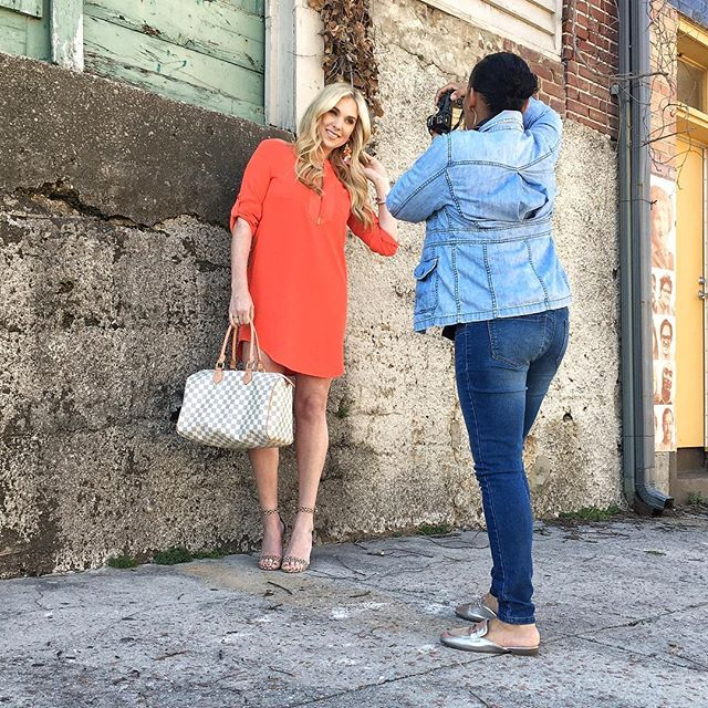 A little behind the scenes of art directing and styling a Spring Fashion Issue for @memphisflyer  Our own, @andreafenise, is the freelance fashion editor for the publication. We handle photography, styling and writing the copy.  We're excited to see how the story comes together.