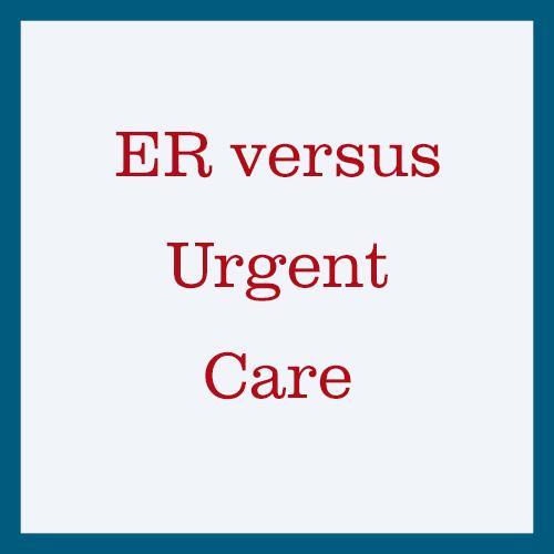 ER vs Urgent