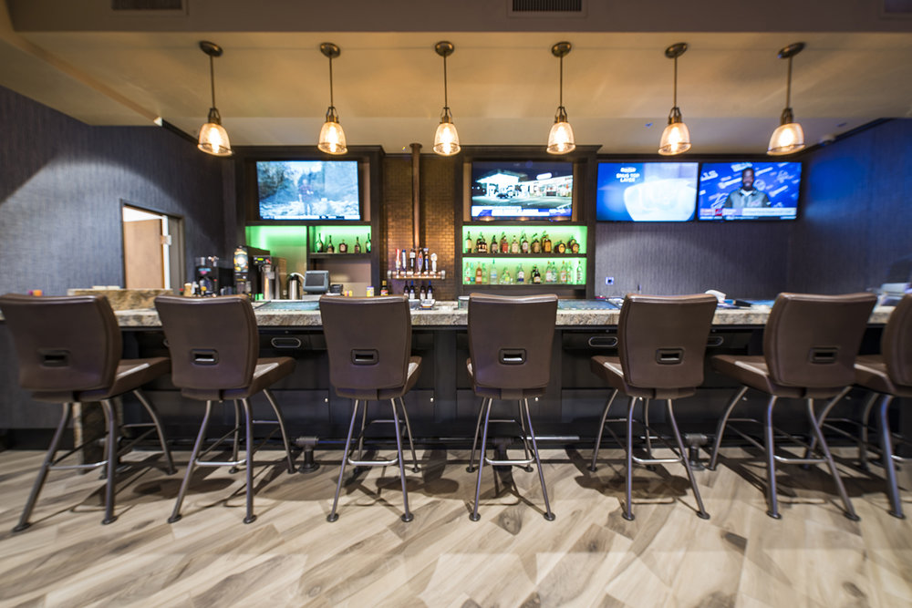 Hobey's Casino in Sun Valley was transformed through recent design-build phases, including a new sportsbook, new bars, expanded gaming space, a new central kitchen and a new coffee shop.