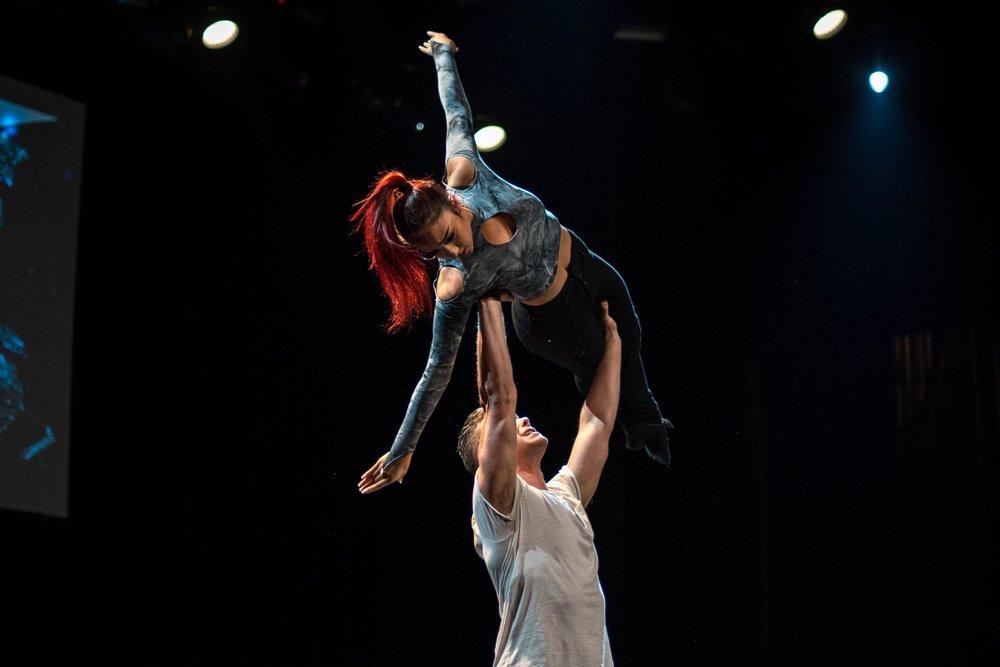 Luka and Jenalyn performing at World of Dance Toronto Saturday night. (James O'Dowda)