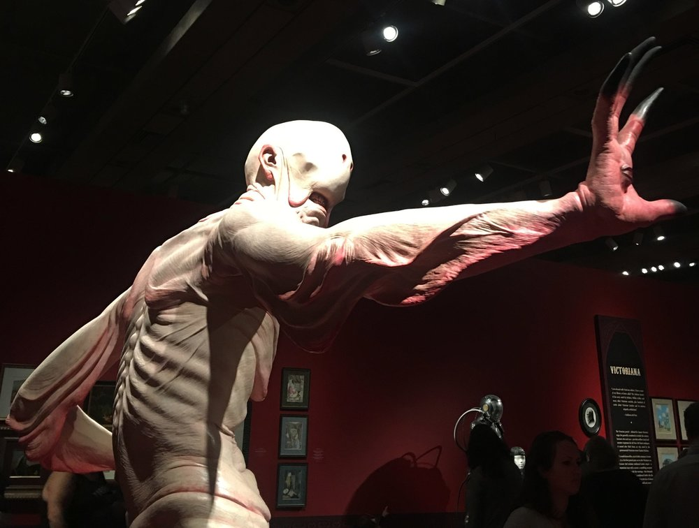 Sculpture of the 'Pale Man', a monster from Del Toro's film, Pan's Labyrinth. (Lauren Kaminski/CanCulture.)