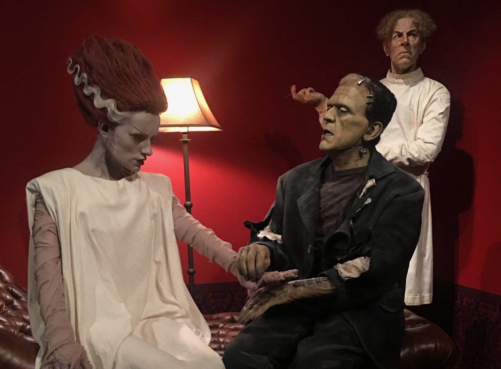 A scene from the At Home With Monsters exhibit, depicting Frankenstein's monster and his wife. (Lauren Kaminski/CanCulture.)