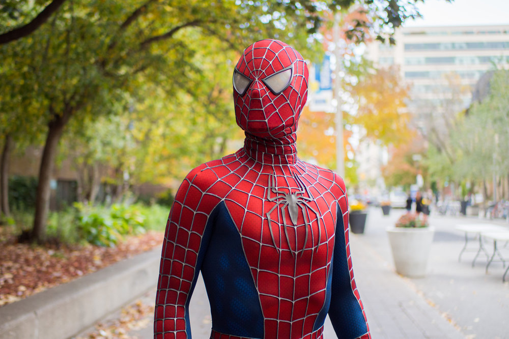 Adam Brice turned heads dressed as Tobey Maguire-era Spider-Man. (J. Cameron/CanCulture)
