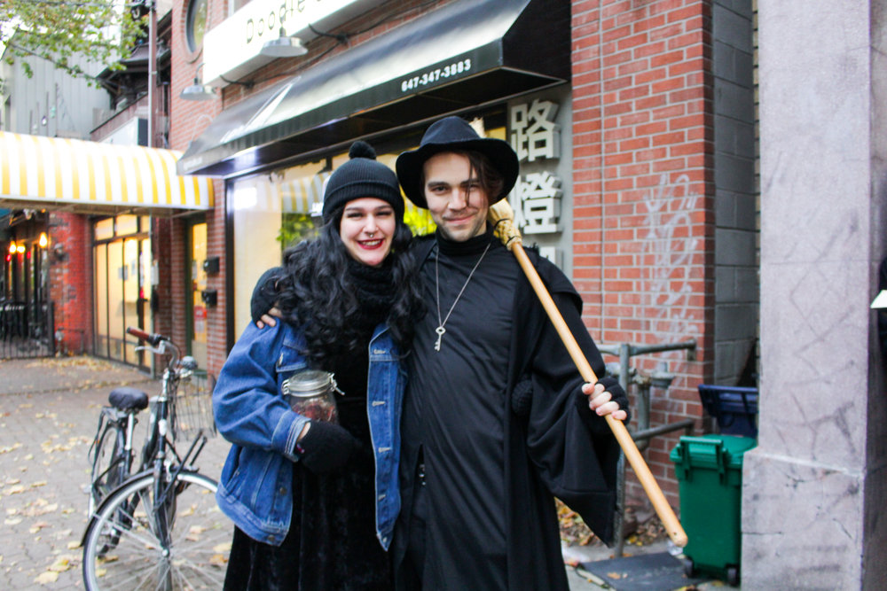 Raquel Ellesmere and Brett Seivwright show off their Witch pride (D. Dejene).