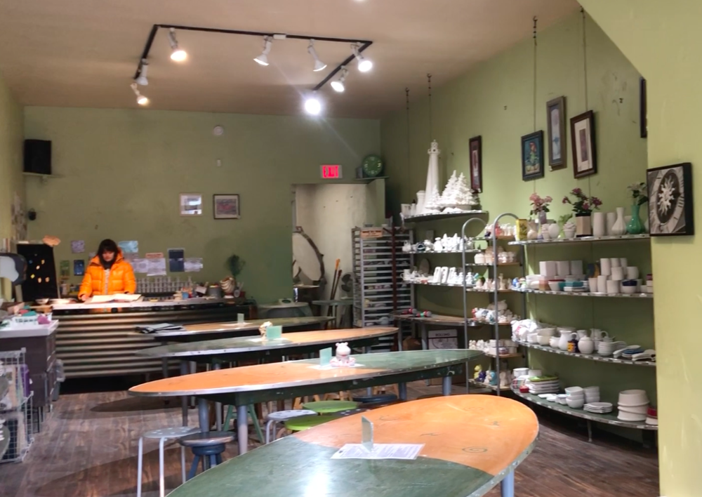 The inside of The Clay Room on Danforth Avenue in Toronto. (CanCulture/Sarafina Romano)