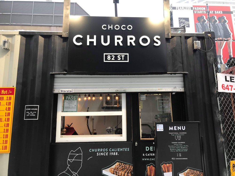 The Choco Churros stand which is open on weekdays from 12 to 8 p.m. (CanCulture/Keisha Balatbat)