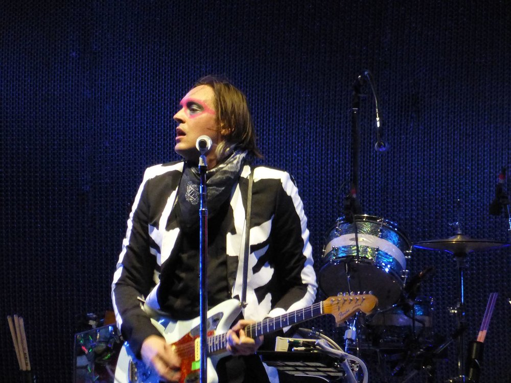 Win Butler of Arcade Fire performing at Coachella 2014. (Flohmann/Wikimedia Commons)
