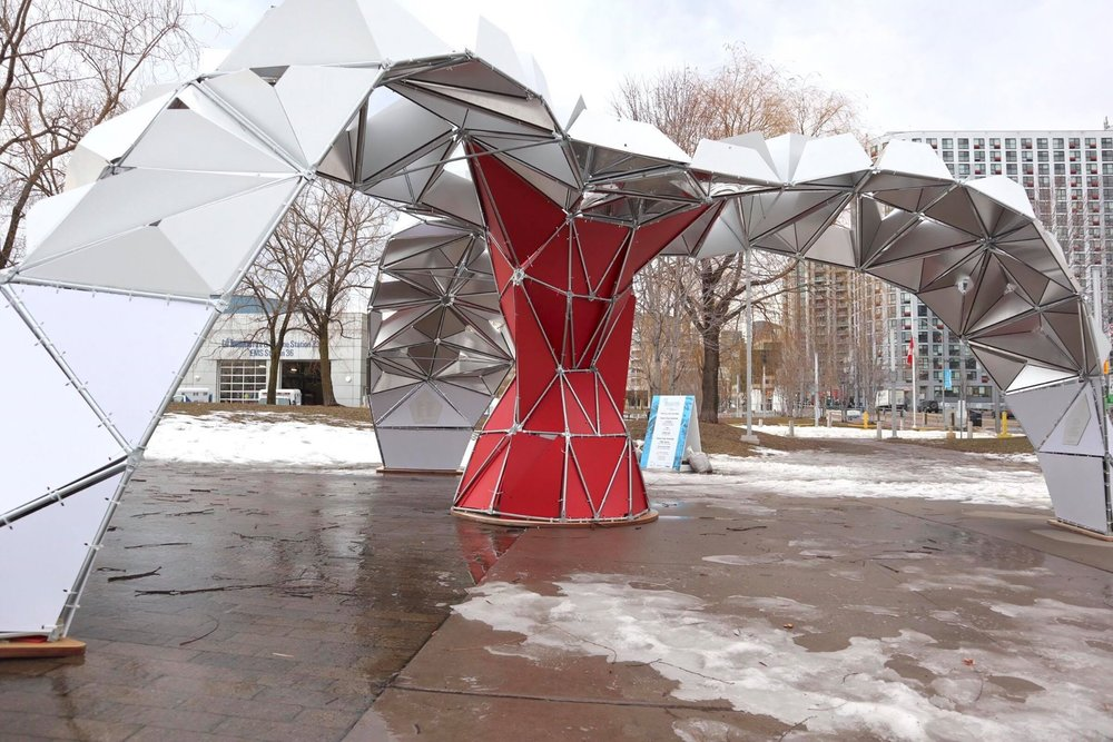 """Tripix"" by Ryerson University stands out as a staple installation along the Harbourfront. (CanCulture/Mariah Siddiqui)"