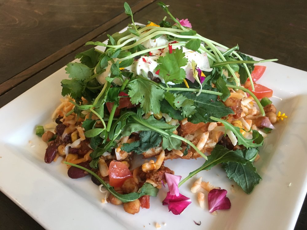 A traditional beef Indian taco with all the fixings at the price of $15. (CanCulture/Bree Duwyn)
