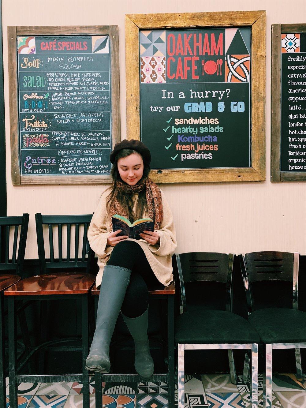 Juliana Regan, a second-year film student, at Oakham Café. (CanCulture/Akanksha Dhingra)