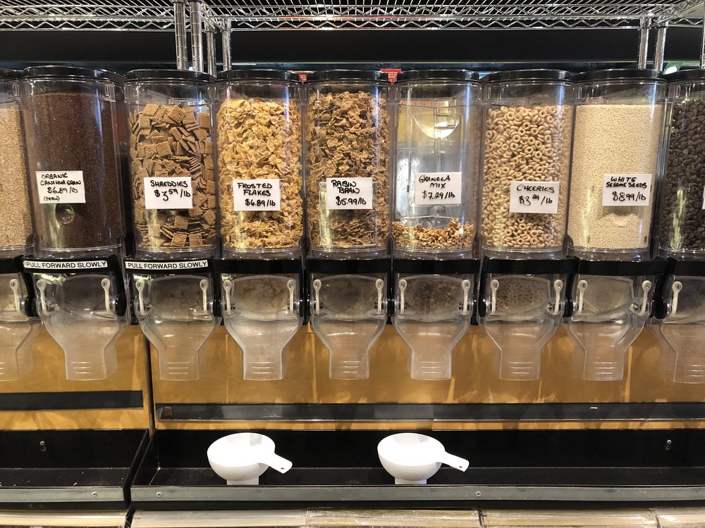 Foods that are available on tap include, milk, oils, cereal, detergent and dry ingredients. (CanCulture/Sophie Chong)