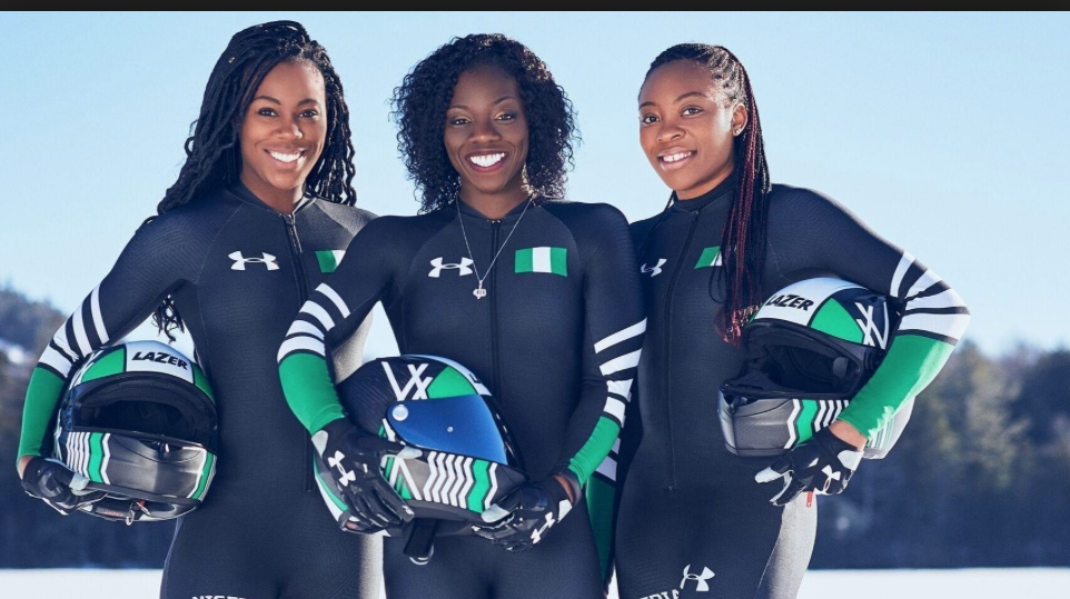 Nigerian Women's Bobsled team members.